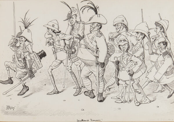 REED Edward Tennyson (1860-1933) - 'Dan Leno's Light Horse' including caricatures of Henry Irving, Beerbohm Tree, 'R.