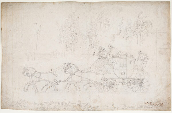 REEVES George (fl.1820s) after POLLARD James (1792-1867) - 'Mail Coach in a Snow Storm…Engraved James Watson'.