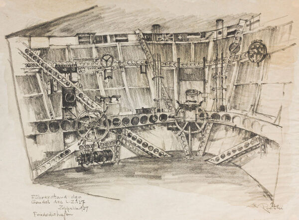 Lili Rethi (1894 -1971) - The Gondola of Zeppelin LZ 127, Zeppelin Works, Friedrichshafen.