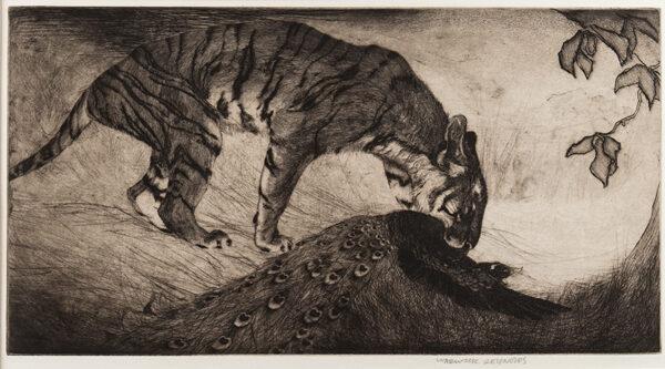 REYNOLDS Warwick (1880-1926) - Tiger and Peacock.
