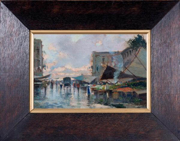 RICCIARDI Oscar (1864-1935) - 'Naples Streets': dawn.