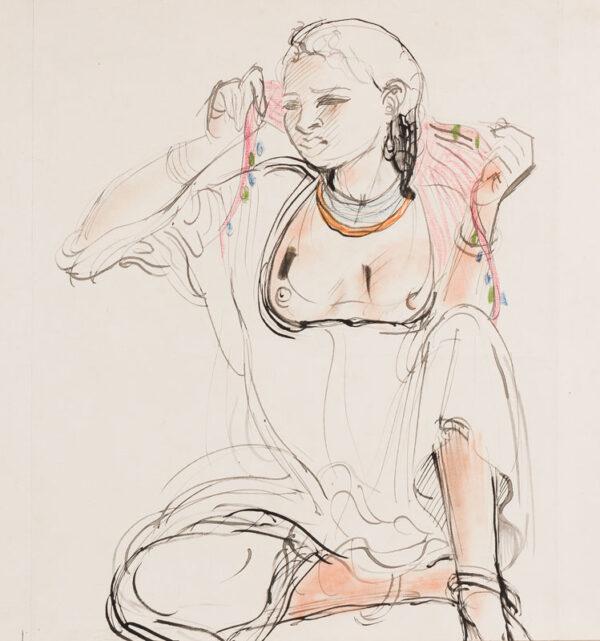 RICE Bernard (1900-1998) - Egyptian Girl.