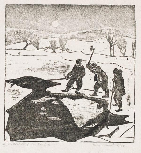 RICE Bernard (1900-1998) - 'Icebreakers in Serbia'.