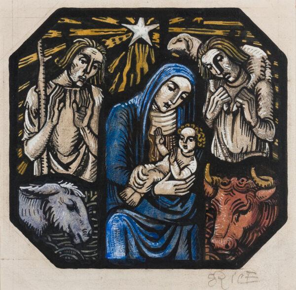 RICE Bernard (1900-1998) - The Shepherds Visit, Bethlehem.