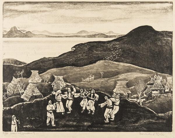 RICE Bernard (1900-1998) - 'Dancing Peasants', Bosnia.