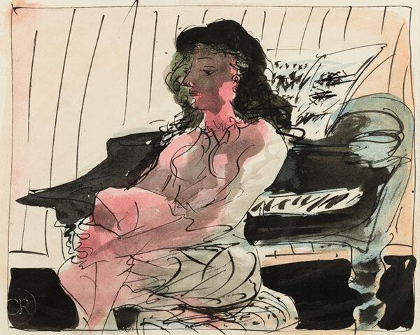 RICHARDS Ceri C.B.E. (1903-1971) - At the Piano.