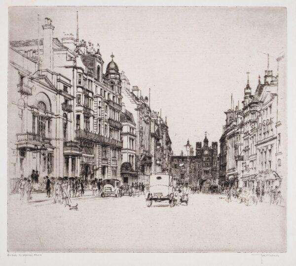 RICHARDS Frederick (1878-1932) - 'Boodles to St James's Palace'.