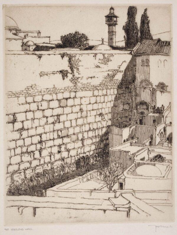 RICHARDS Frederick (1878-1932) - 'The Wailing Wall', Jerusalem.