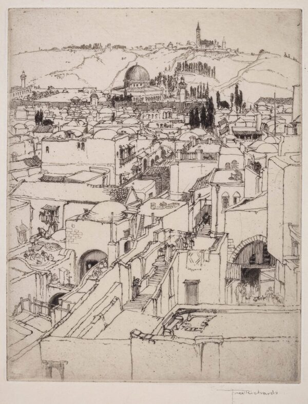 RICHARDS Frederick (1878-1932) - 'Jerusalem and Mt.
