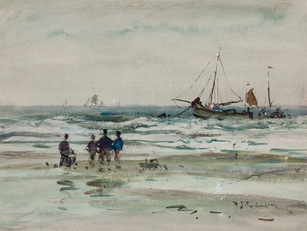 RICHARDSON Frederick Stuart R.I. R.W.S. (1855-1934) - The Yorkshire coast.