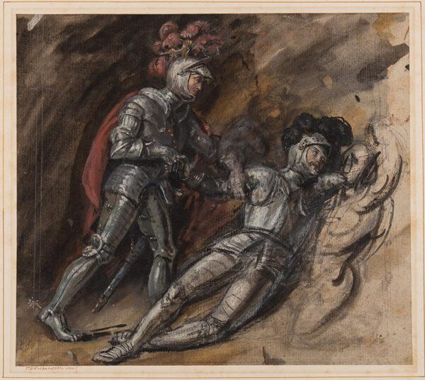 RICHARDSON Thomas Miles Snr (1784-1848) - The Fallen Knight.