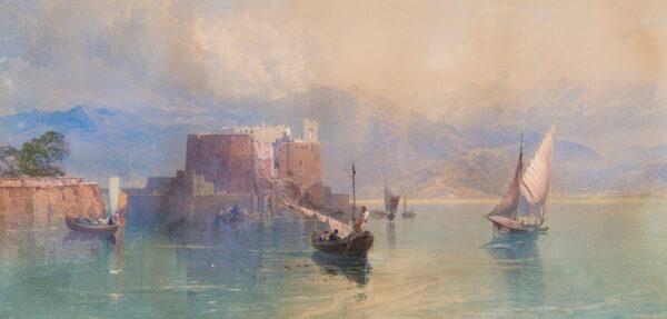 RICHARDSON Thomas Miles Jnr (1813-1890) - An Italian Lake.