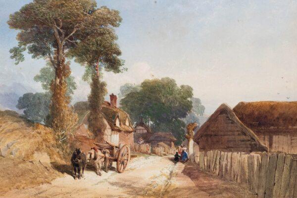 RICHARDSON Thomas Miles Jnr (1813-1890) - A lane, supposedly near Alnwick, Northumberland.