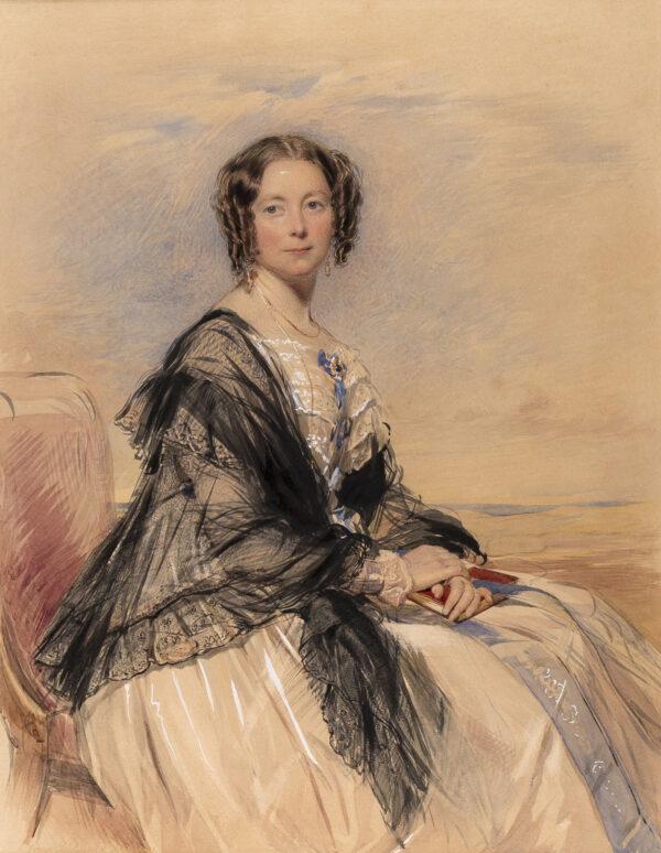 RICHMOND George (1809-1896) - Lady Hatherley, nee Charlotte Moor, (d.