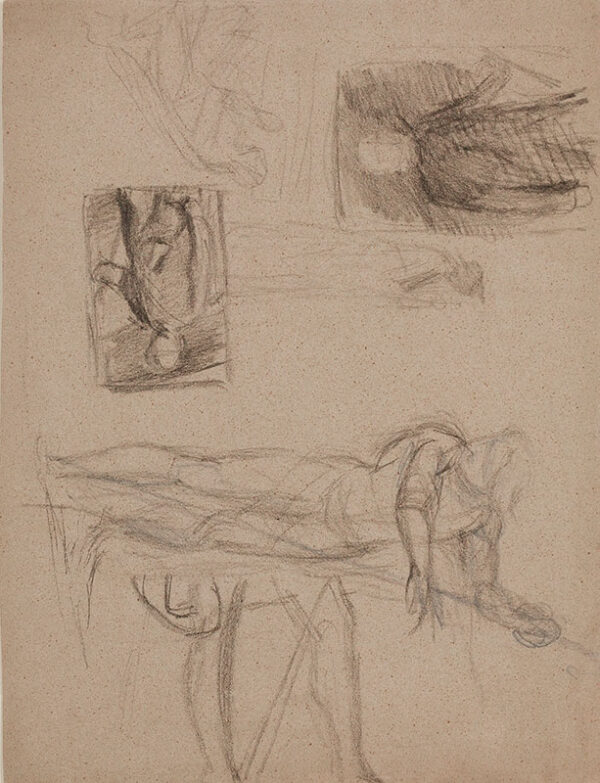 RICHMOND George (1809-1896) - A page of figure studies.