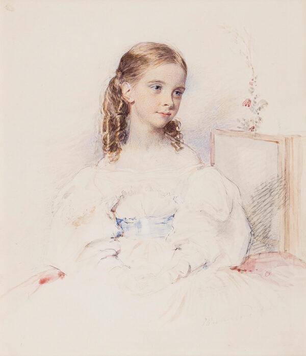RICHMOND George R.A. (1809-1896) - 'Miss Sandham', a charming girl.