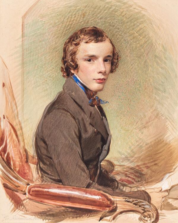 RICHMOND George R.A. (1809-1896) - Portrait of a boy, possibly the artist's son Thomas (b.