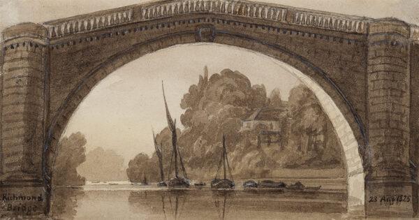 PRINSEP Emily (1798-1860) - 'Richmond Bridge'.
