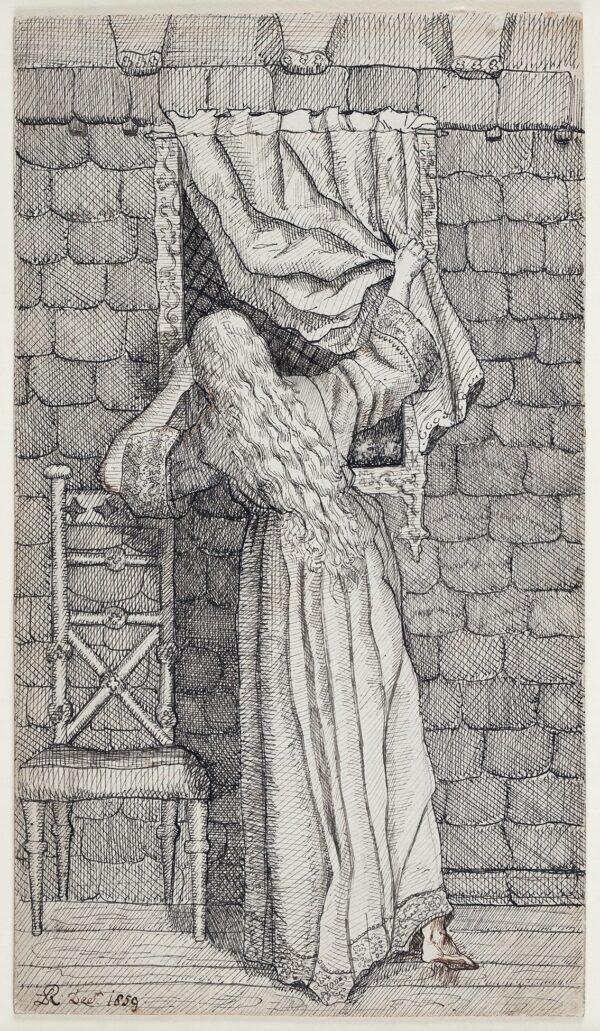 RICHMOND Laura Maria (1841-1915) - At the window.