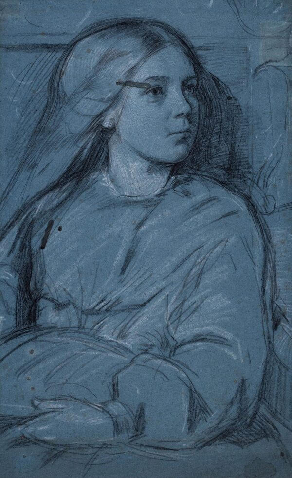 RICHMOND Sir William Blake R.A. (1842-1921) (Attributed to) - Study of a Girl.