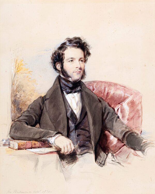 RICHMOND George (1809-1896) - Mr Beilby Porteous Hodgson (1808-1889) Pencil, ink, watercolour and gouache.