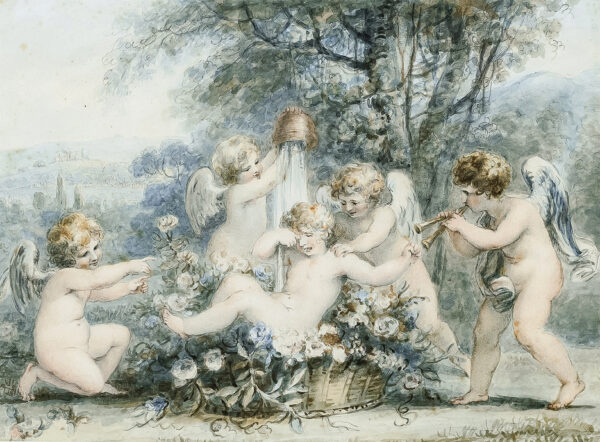 RIGAUD Stephen Francis O.W.S. (1777-1861) - Putti at play.