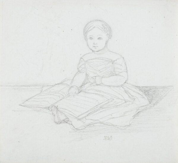 RIGBY Elizabeth (Lady Eastlake) (1809-1893) - Study of a child, St Petersburg.