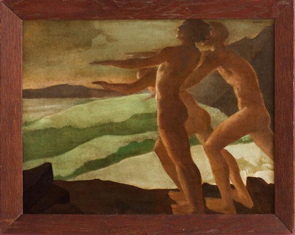 RIVERS Elizabeth (1903-1964) - Bathers at Dawn.
