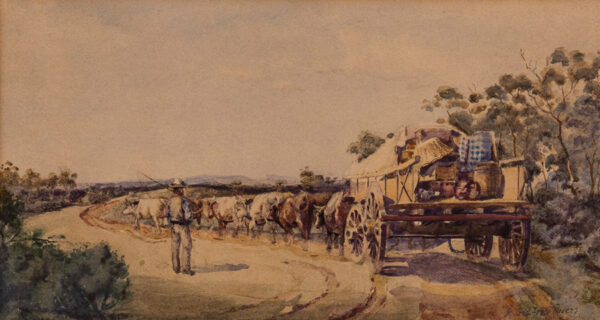 RIVERS (Richard) Godfrey (Exh.1880-1884) - A settler's wagon, Australia.