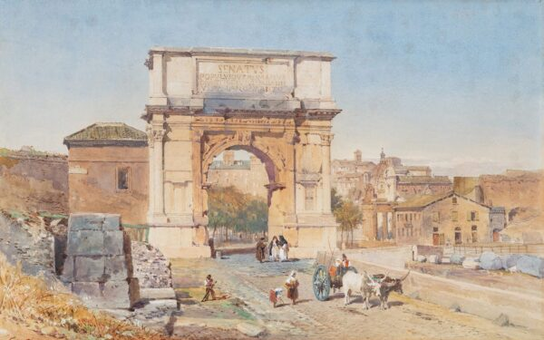 RIVIERE Henry Parsons (1811-1888) - 'Rome' View of the Arch of Titus'.