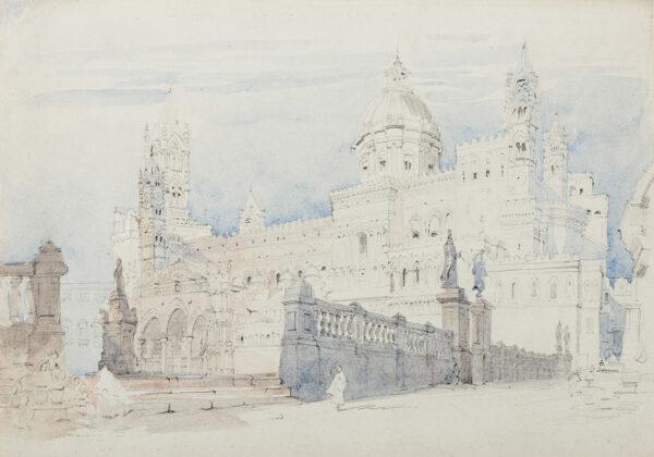 ROBERTS David R.A. (1796-1864) Circle of - Sicily, the Cathedral, Palermo.