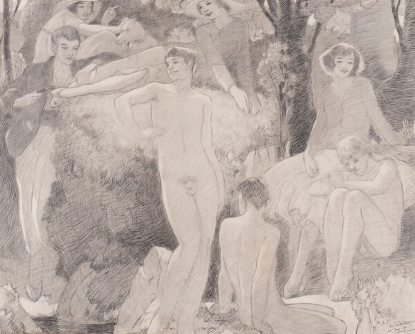 ROBERTSON Eric (1887-1941) - A bathing party.