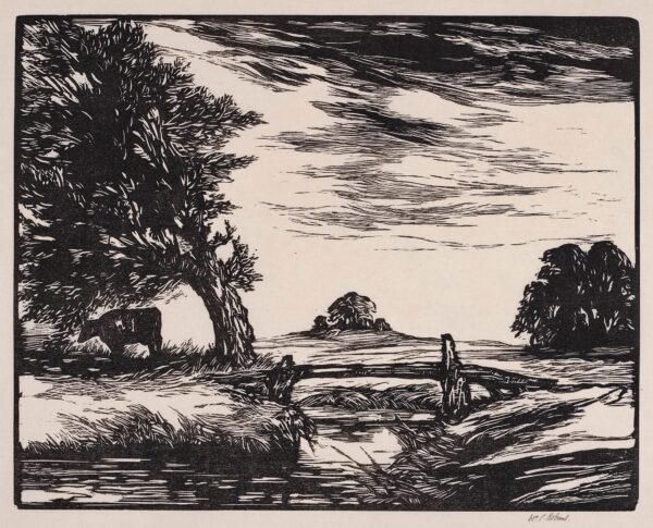 ROBINS William Palmer (1882-1959) - 'Foreshadow of Storm'.