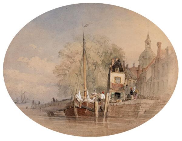 ROBINS Thomas Sewell (1814-1880) - 'Dort' (Dordrecht).