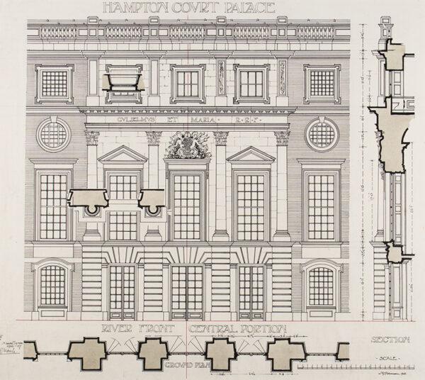 ROBINSON Alfred Douglas F.R.I.B.A. (1886-1965) - 'Hampton Court Palace'.