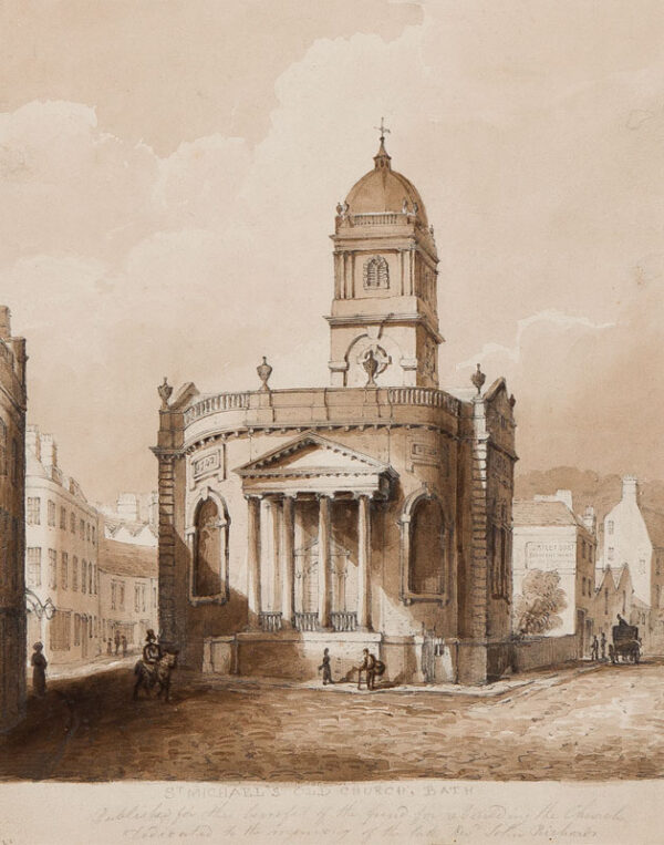 ROBINSON (Possibly Peter Frederick F.R.S.A. 1776-1858) - 'St Michael's Old Church, Bath'.