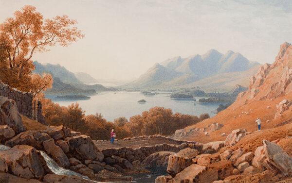 ROBSON George Fennel P.O.W.S. (1788-1833) - View on Derwentwater.