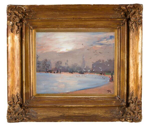 RONALDSON Thomas Martin (1881-1942) - Kensington Gardens: the Round Pond and Kensington Palace.