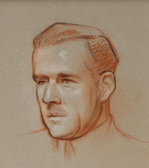 ROTHENSTEIN Sir William N.E.A.C. (1872-1945) - Head of a Man.