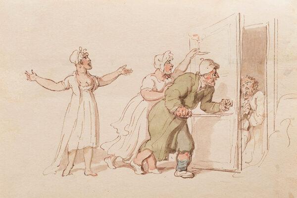 ROWLANDSON Thomas (1756-1827) - A useful cupboard.