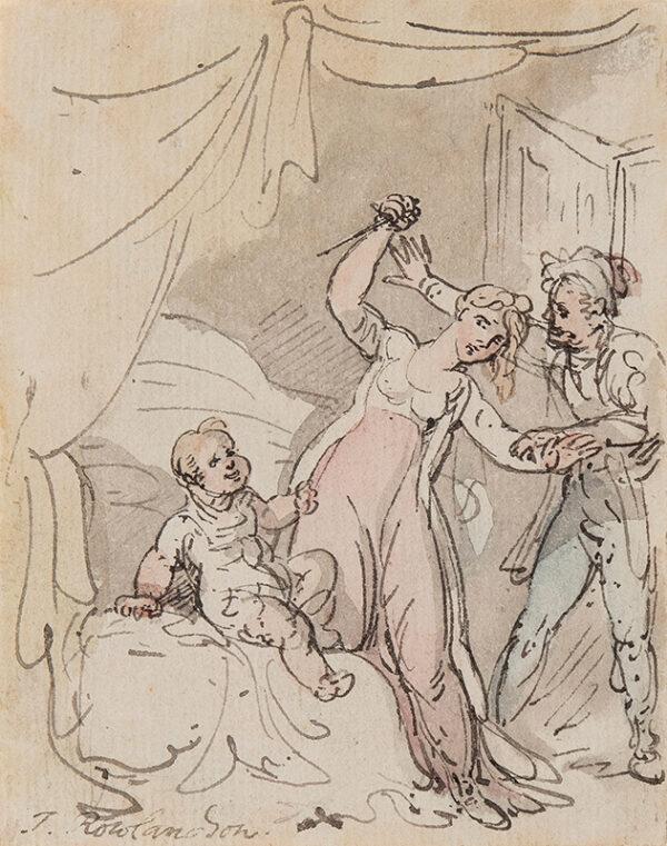 ROWLANDSON Thomas (1756-1827) - The lucky baby.