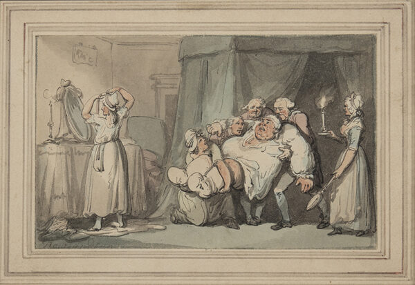 ROWLANDSON Thomas (1756-1827) - 'The Comforts of High Living'.