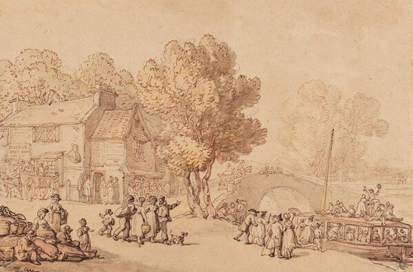 ROWLANDSON Thomas (1756-1827) - The Mitre Inn, Paddington Canal.