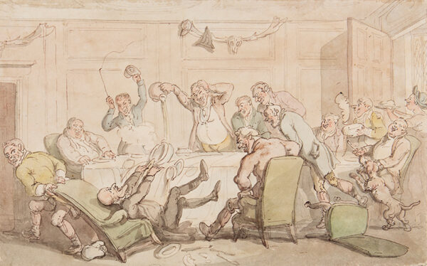 ROWLANDSON Thomas (1757-1827) - Dr Syntax has an accident at the Club.