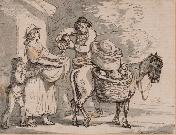 ROWLANDSON Thomas (1756-1827) - The vegetable seller.