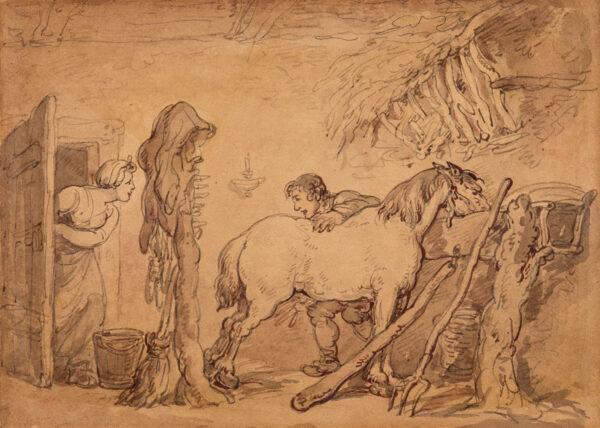 ROWLANDSON Thomas (1756-1827) - The Stable.