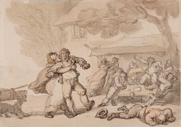 ROWLANDSON Thomas (1756-1827) - A Pub brawl.