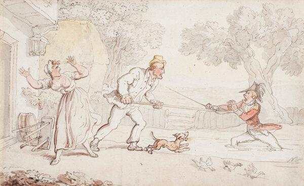 ROWLANDSON Thomas (1756-1827) - A Jealous Scene.