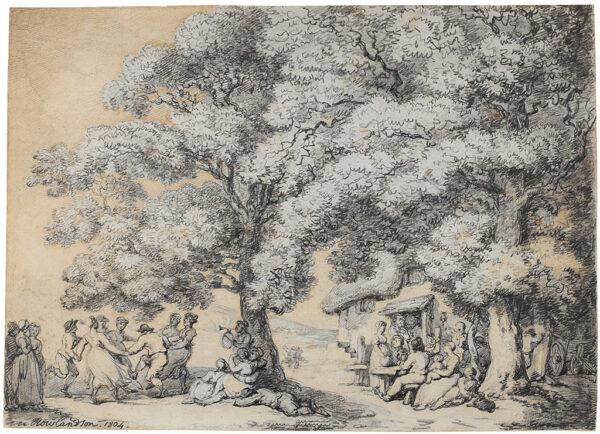 ROWLANDSON Thomas (1756-1827) - Revellers outside a Village Inn.