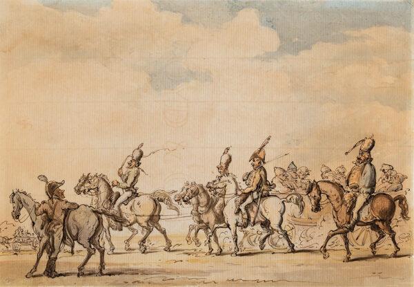ROWLANDSON Thomas (1756-1827) - French Prisoners under Guard.